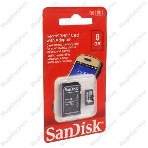 Карта памяти SanDisk microSDHC 8GB оптом