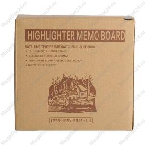 Будильник со светящейся доской для записей highlighter memo board оптом