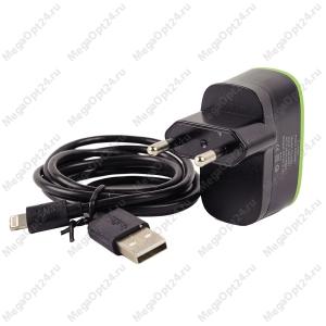 Сетевое зарядное устройство Belkin Home Charger 2 USB + кабель Lightning оптом