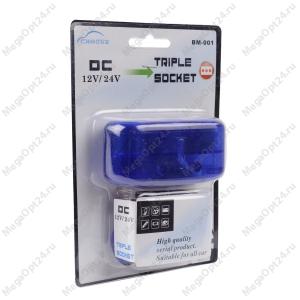Разветвитель прикуривателя Wine USB Triple Socket с USB-входом