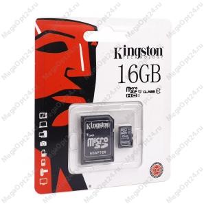 Карта памяти Kingston microSDHC/microSDXC Class 10 HS-I 16GB оптом