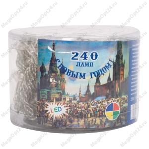Светодиодная гирлянда С Новым годом 240 ламп 12 м оптом