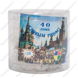 Светодиодная гирлянда С Новым годом 40 ламп 5 м фигурная
