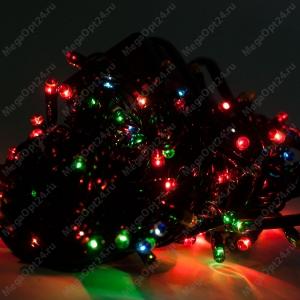 Светодиодная гирлянда С Новым годом 240 ламп разноцветная