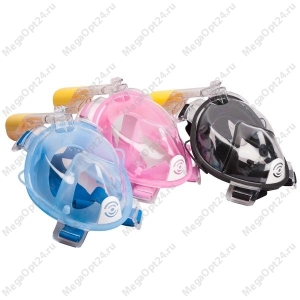 Полнолицевая маска с трубкой  с креплением для камеры GoPro