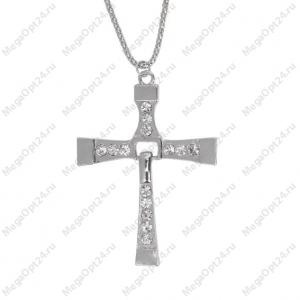 Подвеска Крест со стразами