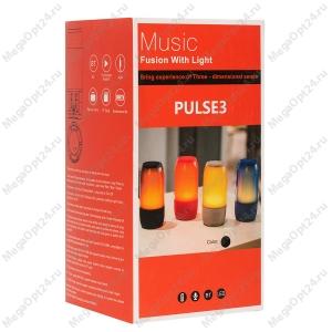 Портативная колонка Pulse 3 с цветомузыкой оптом