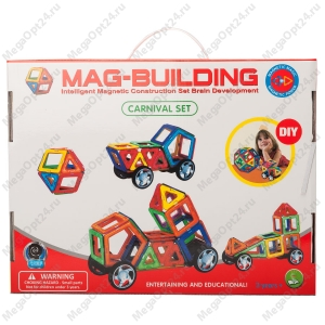 Магнитный конструктор Mag-Building 48 деталей оптом