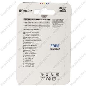 Карта памяти Monlas 2 Gb microSDHC clas10 с адаптером