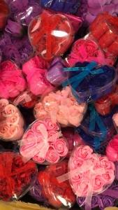Мыло цветы в форме сердца 9 шт.