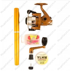Складная удочка с катушкой mini rod pocket pen fishing rod
