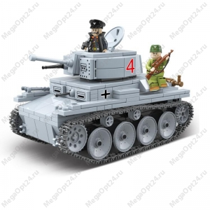 Конструктор танк QUAN GUAN lt vz.38 pz kpfw 38(t)