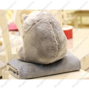 Плед-подушка хомяк оптом