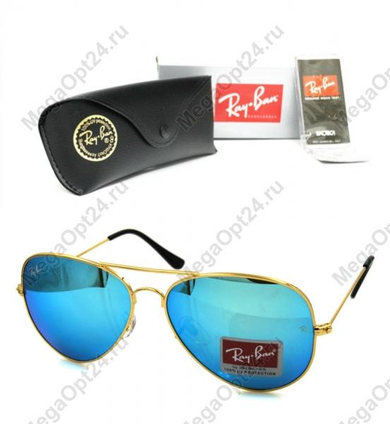 Комплект очки RB авиатор и чехол