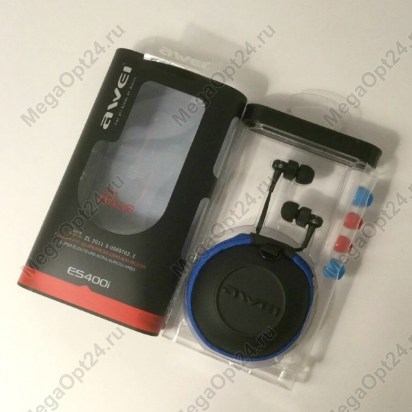 Вакуумные стерео наушники Awei ES 400i оптом
