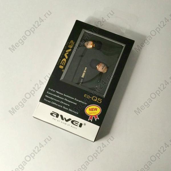 Вакуумные стерео наушники Awei ES-Q5 оптом