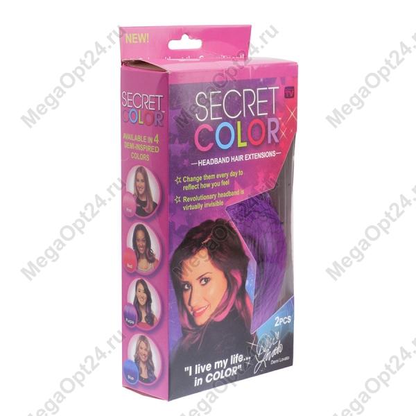 Искусственные накладные цветные пряди SECRET COLOR оптом