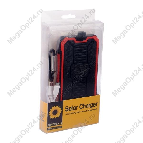 Внешний аккумулятор на солнечных батареях Solar Charger EK-3 20000mAh оптом.