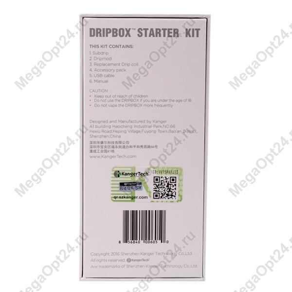 Электронный испаритель Kanger Dripbox 60W Starter Kit white оптом