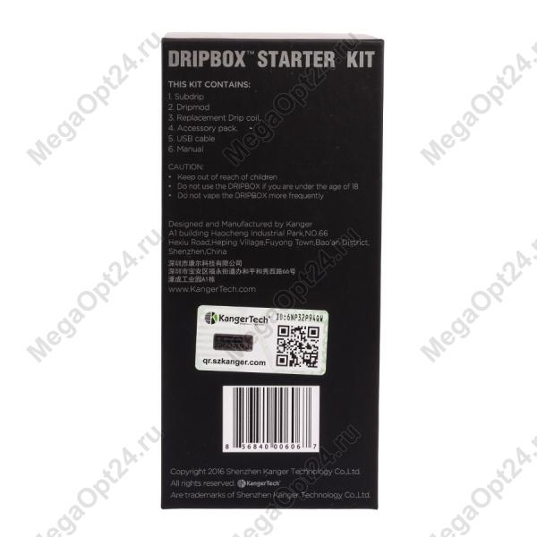 Электронный испаритель Kanger Dripbox 60W Starter Kit Черный оптом.
