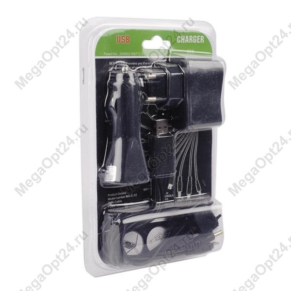 Зарядка-гибрид 3 в 1 USB charger 828 оптом