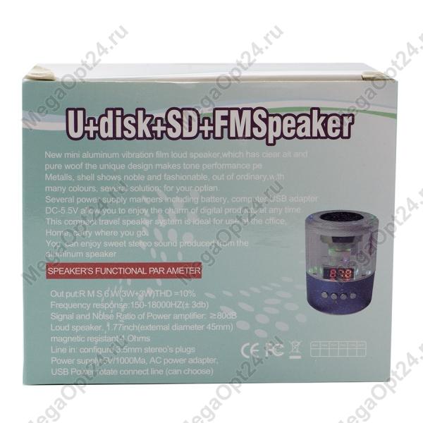 Портативная колонка U+disk+SD+FM Spiaker птом