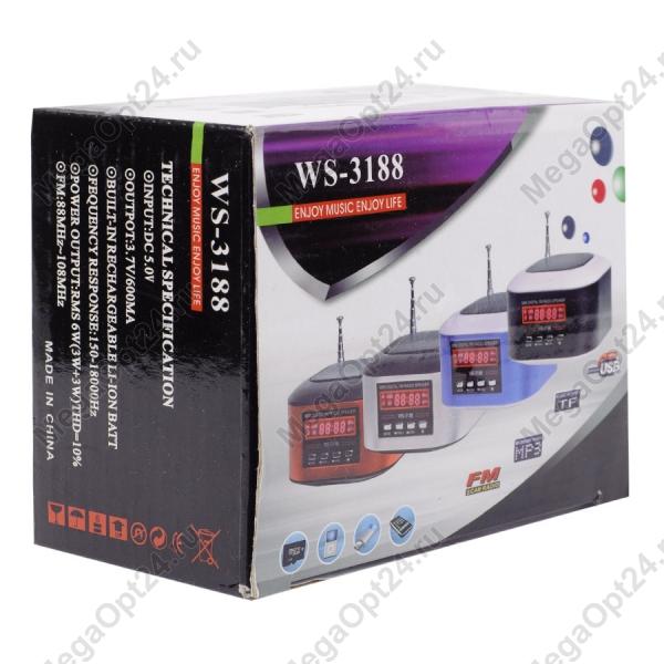 Портативная колонка Wster ws-3188 оптом