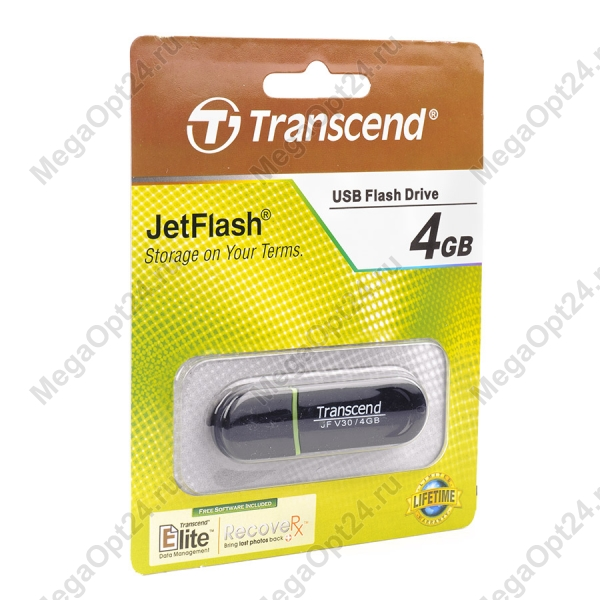 USB-флеш карта Transcend JetFlash V30 4GB оптом