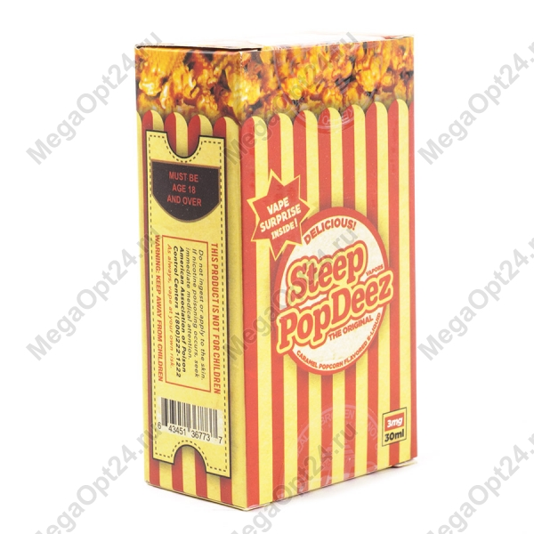 Жидкость для электронных сигарет Steep PopDeez Caramel Popcorn оптом