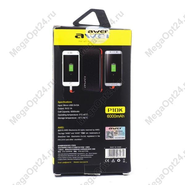 Power BankAWEI P10K 6000 Mah оптом