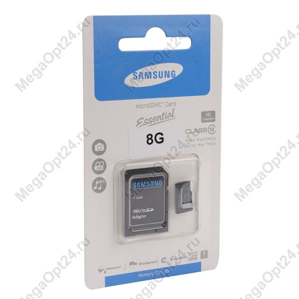 Карта памяти MicroSDHC Essential class 10 8GB оптом