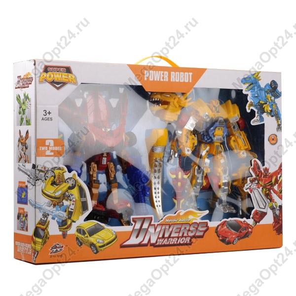 Набор роботов-трансформеров Universe Warrior с аксессуарами оптом