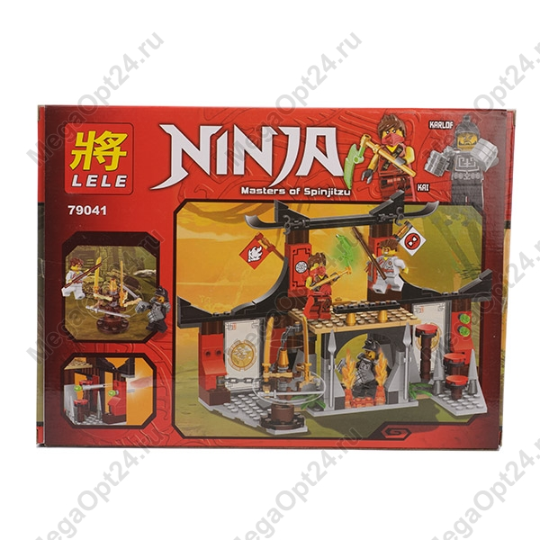 Конструктор LELE Ninja 79041 Бой у Додзе оптом