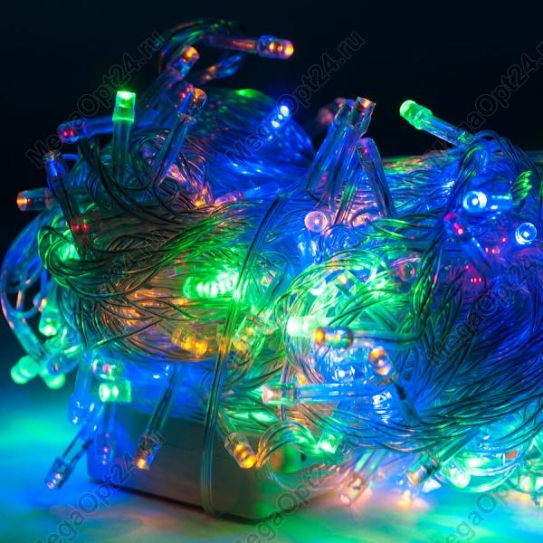 Светодиодная гирлянда С Новым годом 400 ламп 18 м оптом