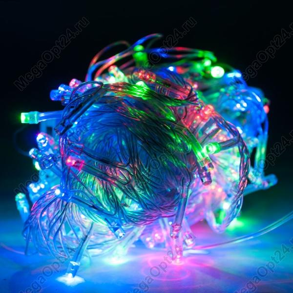 Светодиодная гирлянда С Новым годом 300 ламп 17 м оптом