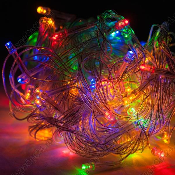 Светодиодная гирлянда С Новым годом 200 ламп 10 м оптом