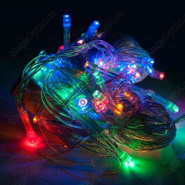 Светодиодная гирлянда С Новым годом 100 ламп 6 м оптом
