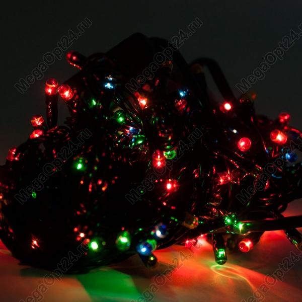 Светодиодная гирлянда С Новым годом 240 ламп разноцветная оптом