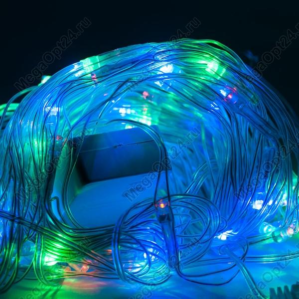 Светодиодная гирлянда С Новым годом 160 ламп синий цвет оптом