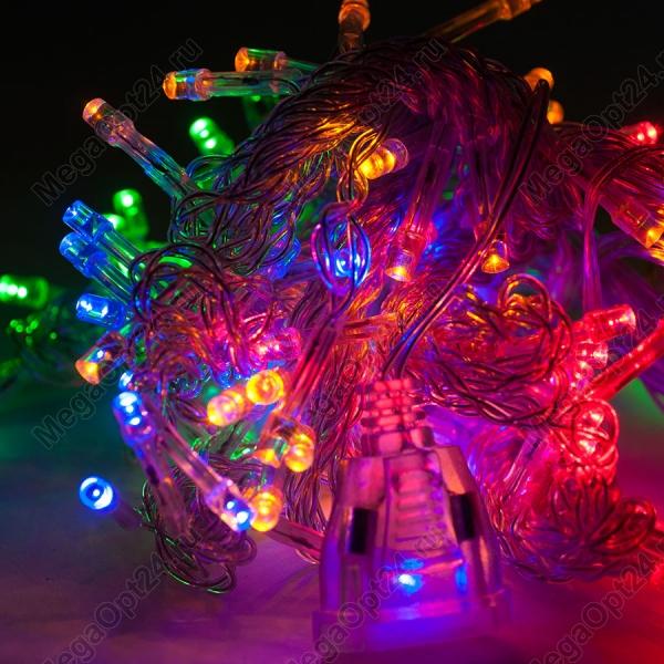 Светодиодная гирлянда С Новым годом 160 ламп 8 м оптом