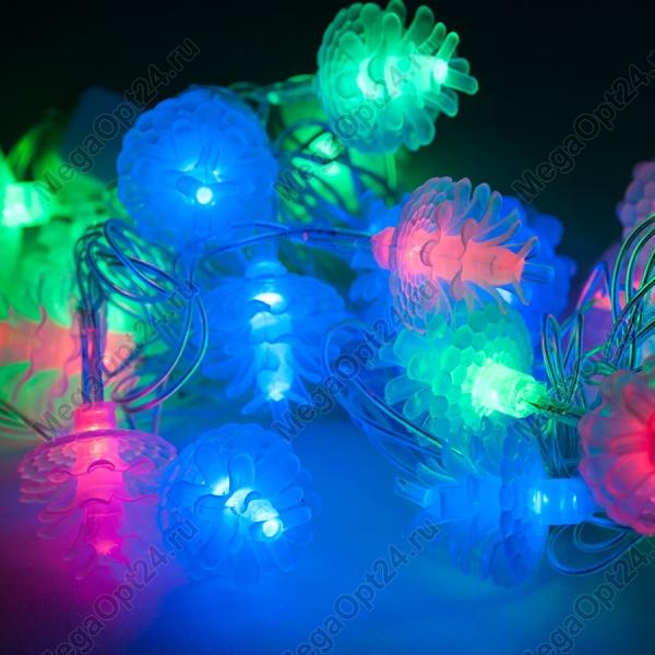 Светодиодная гирлянда 40 ламп 5 м фигурная оптом