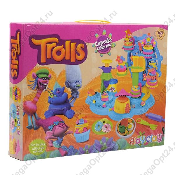 Игровой набор длялепки Тролли оптом