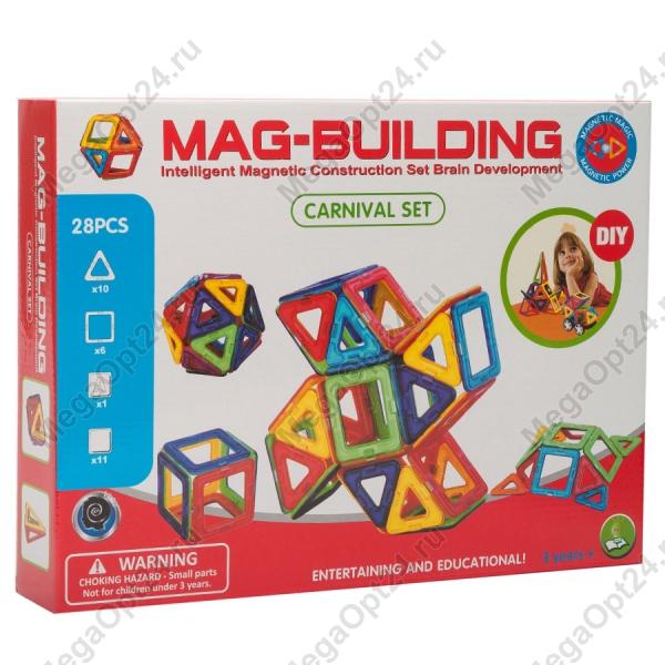 Магнитный конструктор Mag-Building 28 деталей оптом