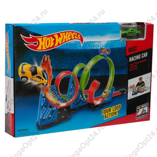 Гоночный трек Hot Wheels Four Loop Action оптом