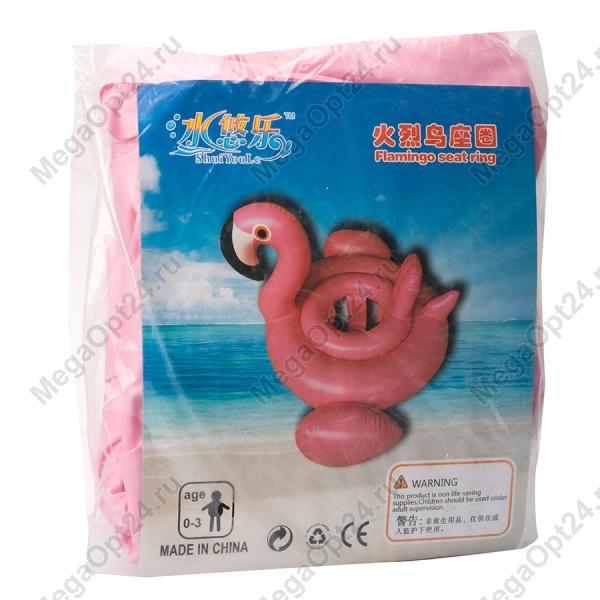 Круг для плавания с сиденьем Розовый фламинго