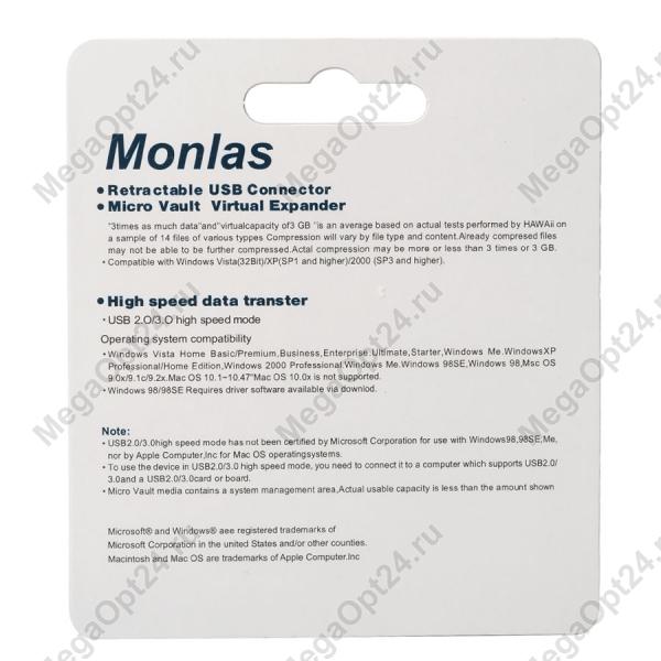 Флеш-накопитель Monlas 16 Gb
