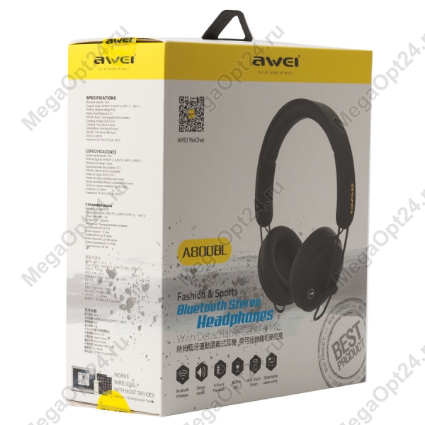 Наушники с микрофоном Awei A800BL