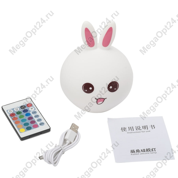 Ночник-лампа Rabbit silicone lamp