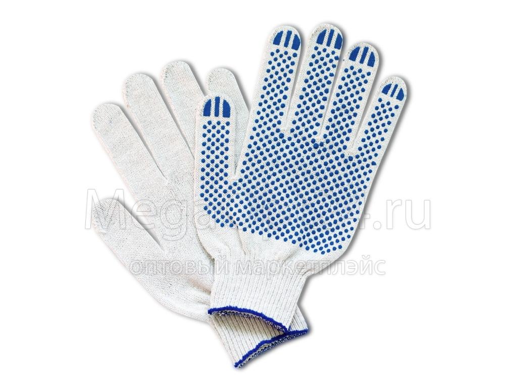 Х/б перчатки облегченные вес пары 41-43 гр.