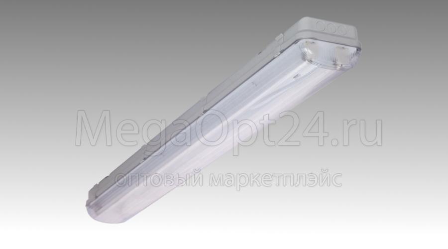Хозяйственно-бытовой (гаражный) люминесцентный  светильник со степенью защиты IP65  ЛПП 2х36 Айсберг-CSVT